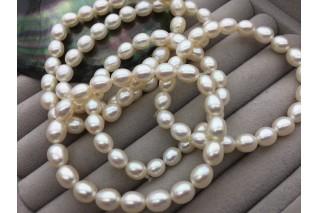 Perlų ovali apyrankė 7mm