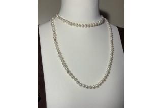 Perlų vėrinys 6-7mm 110cm