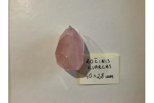 Rožinio kvarco pakabukas II