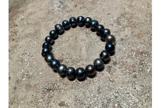 Perlų apyrankė Deep Blue 7-8mm, 15-16,5cm riešui