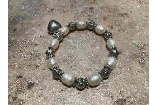 Perlų apyrankė Heart, 15-16cm riešui
