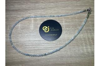 Akvamarino vėrinys, 3mm 44cm