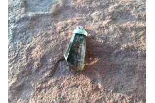 Natūralaus Dūminio kvarco pakabukas sidabre